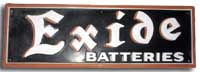 Collectables: Antique Exide Batteries Metal Sign